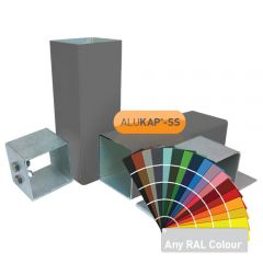 Alukap-SS complete post & bracket kit in a powder coated finish.