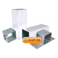 Alukap-SS Complete Post & Bracket Kit in White