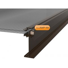 Alukap-SS High Span Gable Bar in Brown
