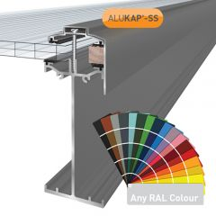 Alukap-SS High Span Gable Bar in a powder coated finish.