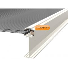 Alukap-SS High Span Gable Bar in White