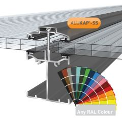Alukap-SS Low Profile Bar in a powder coated finish.