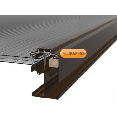Alukap-SS Low Profile Gable Bar in Brown
