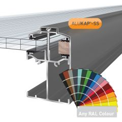 Alukap-SS low profile Gable Bar in a powder coated finish.