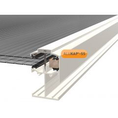 Alukap-SS Low Profile Gable Bar in White