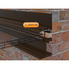 Alukap-SS Low Profile Wall Bar in Brown