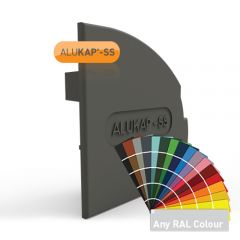 Alukap-SS Wall & Eaves Beam Endcap (Right Hand) in a powder coated finish.