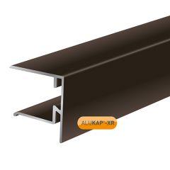Alukap XR 28mm end stop bar in brown.