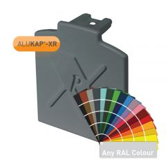 Alukap-XR Additional Bar End Cap in a powder coated finish.