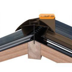 Alukap-XR Aluminium Ridge Bar in Brown