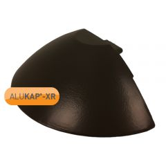 Alukap-XR Ridge Radius End Cap in Brown