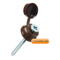 Corrapol-BT Brown 60mm Screw Cap Fixings (Pack of 50)