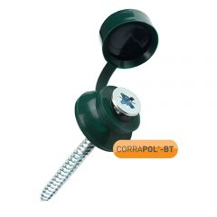 Corrapol-BT Green Screw Cap Fixings (Pack of 10)