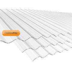 Corrapol Clear Polycarbonate Corrugated Roof Sheet