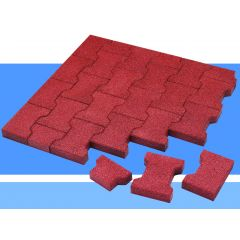 Rubberlok Cobble Block Red