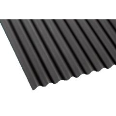 Gutta corrugated bitumen roof sheet in black.