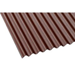 Gutta corrugated bitumen roof sheet in brown.