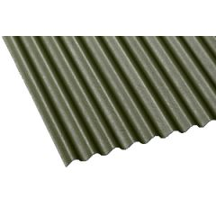 Gutta corrugated bitumen roof sheet in green.