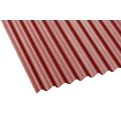 Gutta corrugated bitumen roof sheet in red.