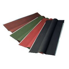 Gutta ridge capping available in black, brown, green and red.
