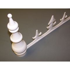 Molan Sunwood Cresting and Finial White