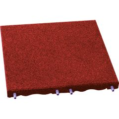 Rubberlok Slab Red 500x500x25mm