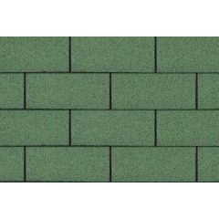 SHINGLAS Standard Series 3 TAB Roof Shingles in green.