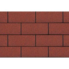 SHINGLAS Standard Series 3 TAB Roof Shingles in red.