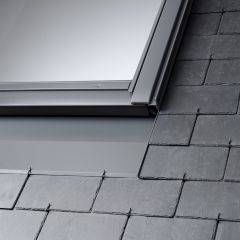 VELUX EDN insulated recessed slate flashing.