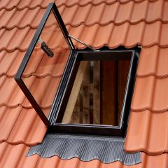 VELUX GVT side hung outward opening rooflight.