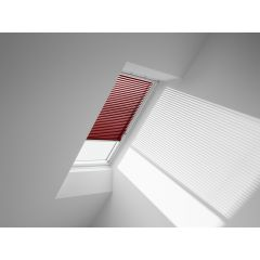 VELUX PAL Manual Venetian Blind in passionate red.