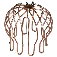 Wallbarn Circular Roof Outlet - Copper Leaf Guard